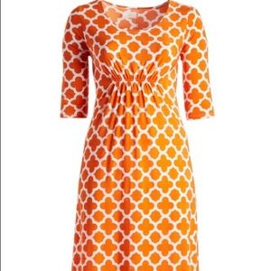 Dresses & Skirts - Orange & white maxi